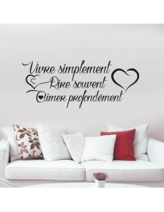 Vivre simplement