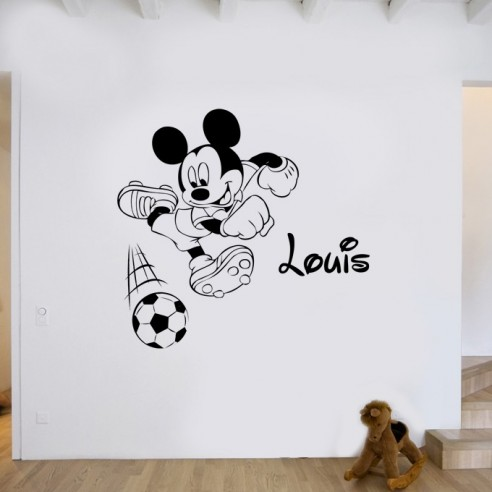 stickers Mickey avec prénom