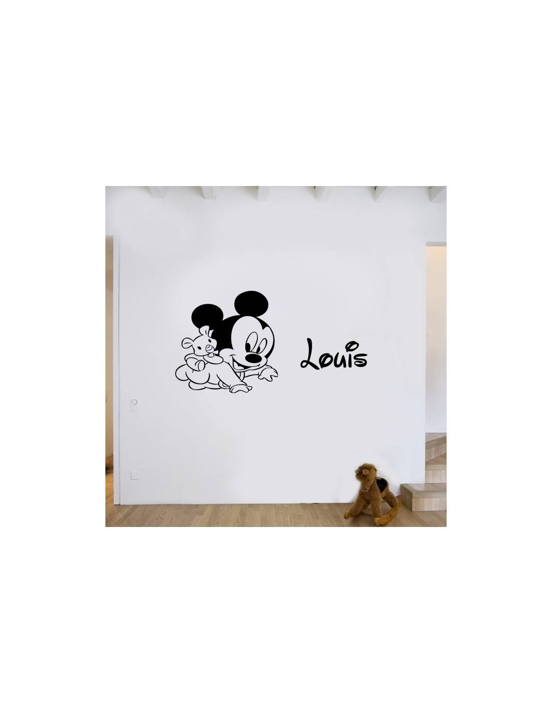 stickers d co enfant mickey personnalis stickers enfant pas cher. Black Bedroom Furniture Sets. Home Design Ideas