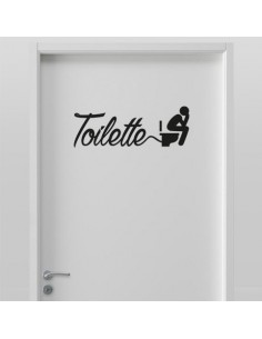 Sticker porte de toilettes