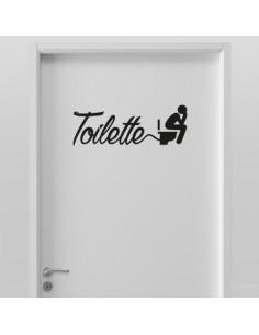 Sticker porte de toilettes