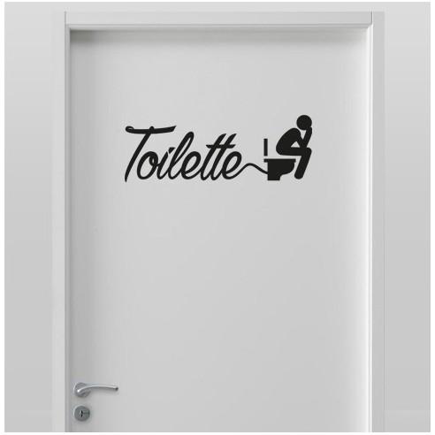 Sticker pour porte toilettes stickers d co toilettes wc pas cher - Stickers pour porte pas cher ...