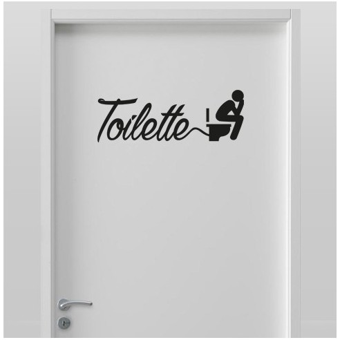 Sticker de porte wc stickers originaux pour porte wc for Porte wc dessin