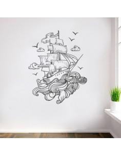 stickers bateau en mer
