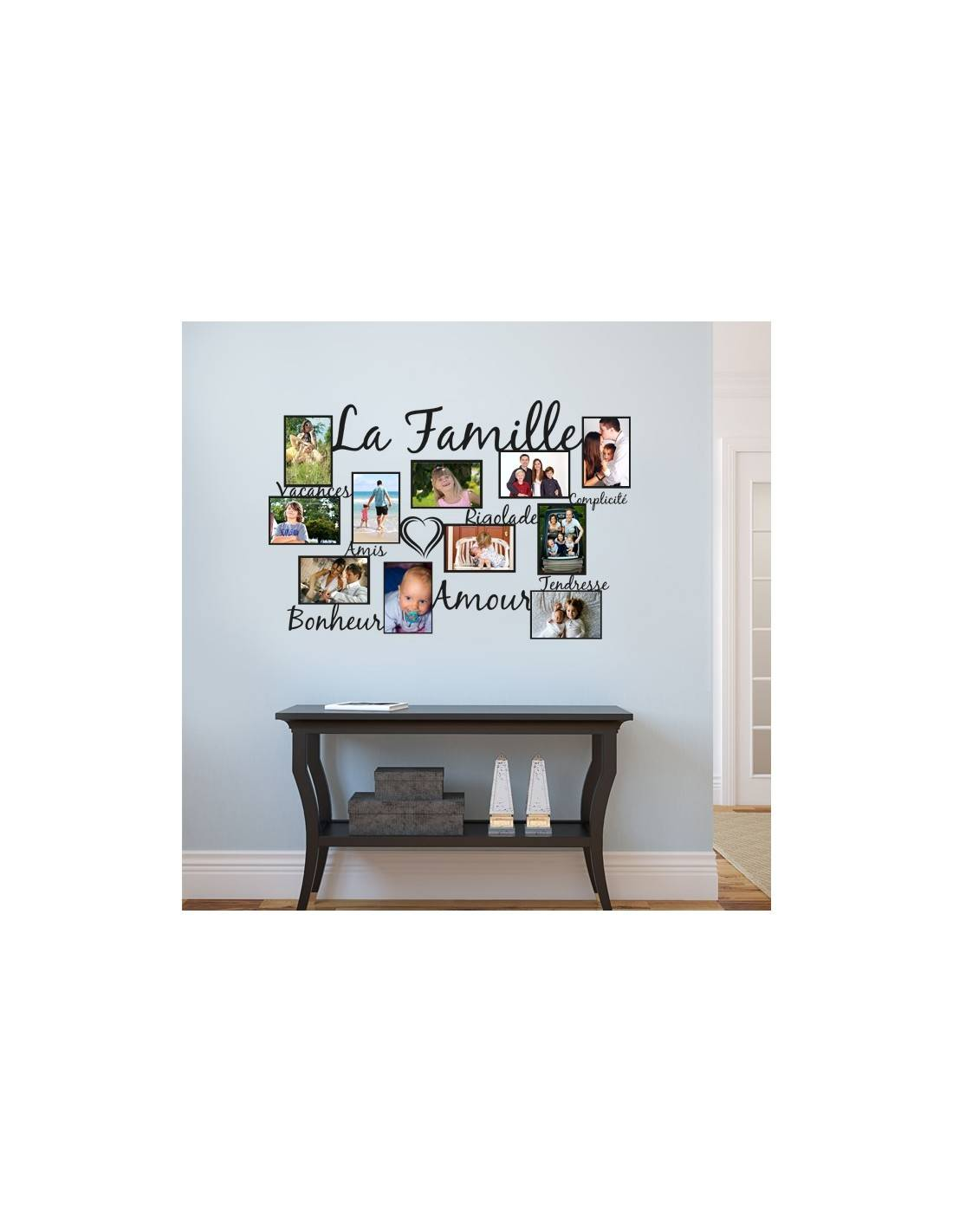 stickers muraux cadre photos stickers p le m le photos de fammille. Black Bedroom Furniture Sets. Home Design Ideas
