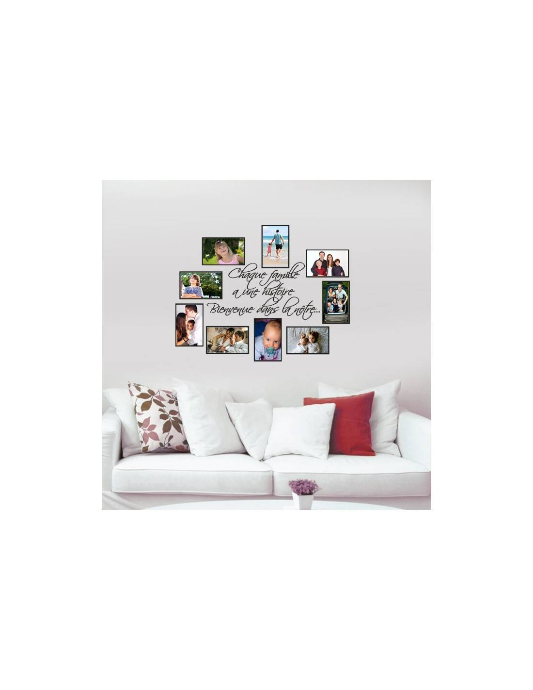 stickers cadre photos de famille avec stickers citation. Black Bedroom Furniture Sets. Home Design Ideas