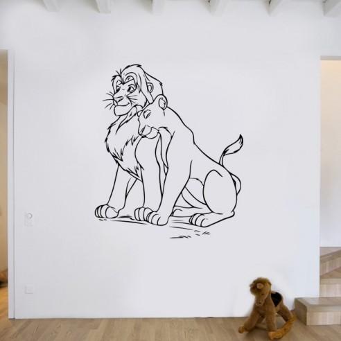 Stickers Roi Lion