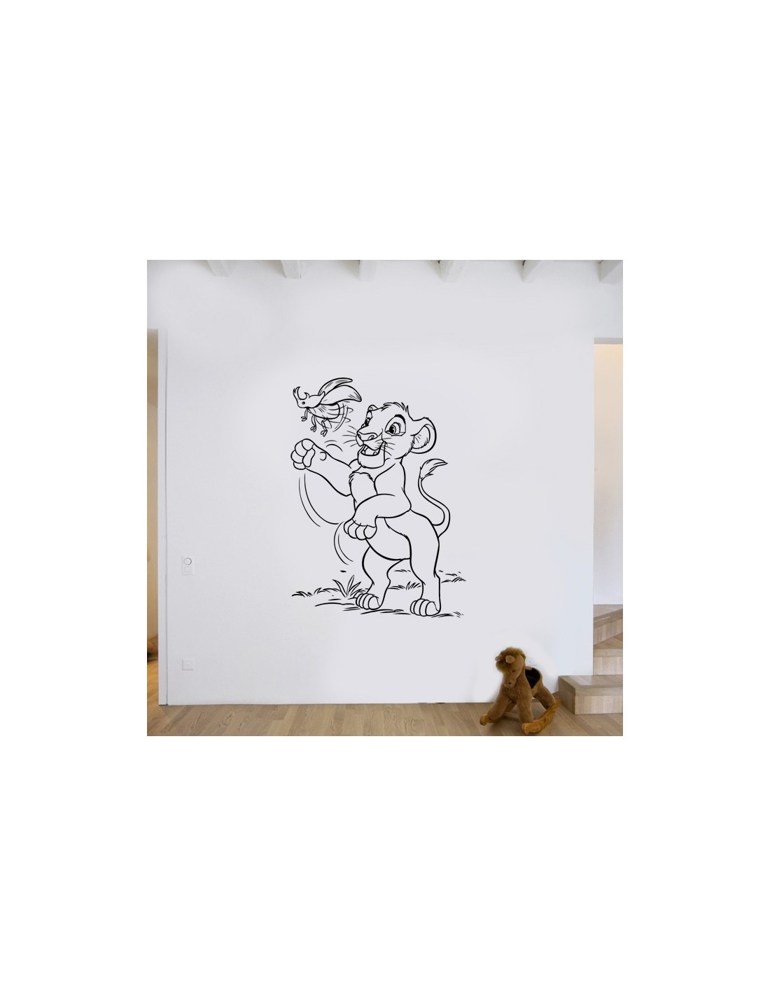 stickers muraux pour enfant stickers d co le roi lion. Black Bedroom Furniture Sets. Home Design Ideas