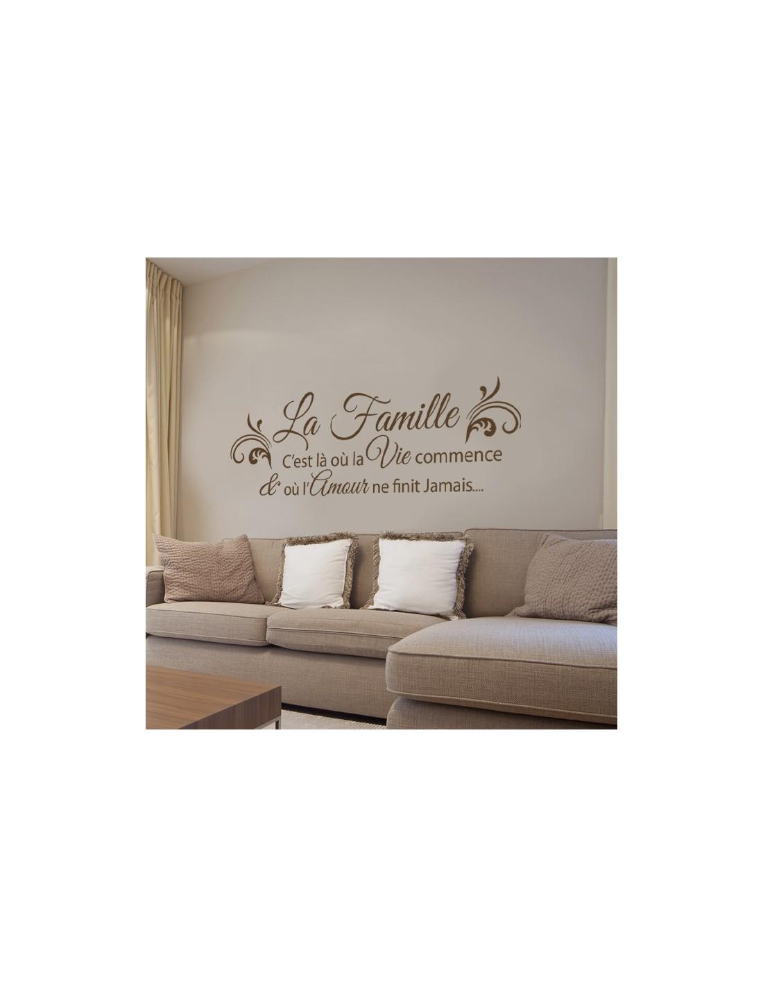 stickers citation th me famille et amour la famille c 39 est l o. Black Bedroom Furniture Sets. Home Design Ideas
