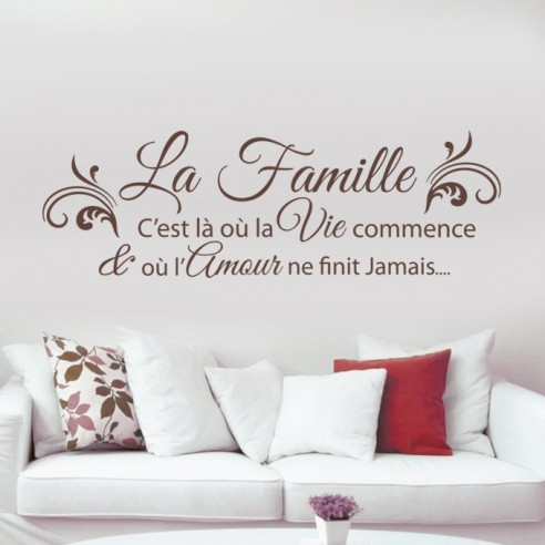 stickers citation famille