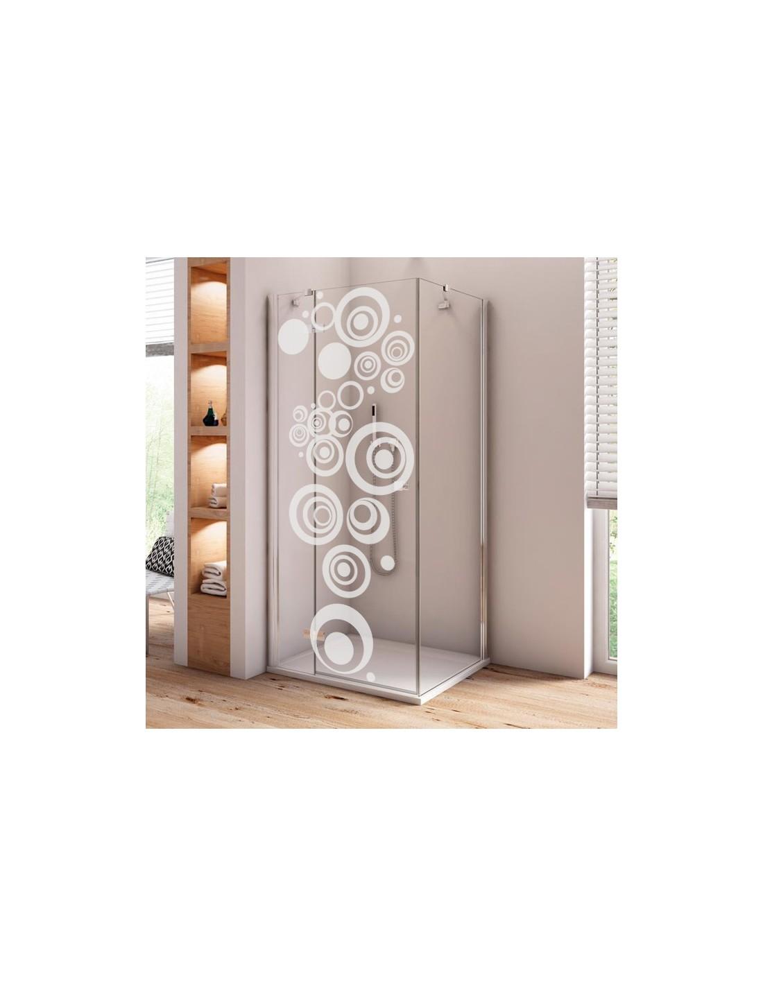 kit stickers d coration paroi de douche adh sif d poli sp cial vitre. Black Bedroom Furniture Sets. Home Design Ideas