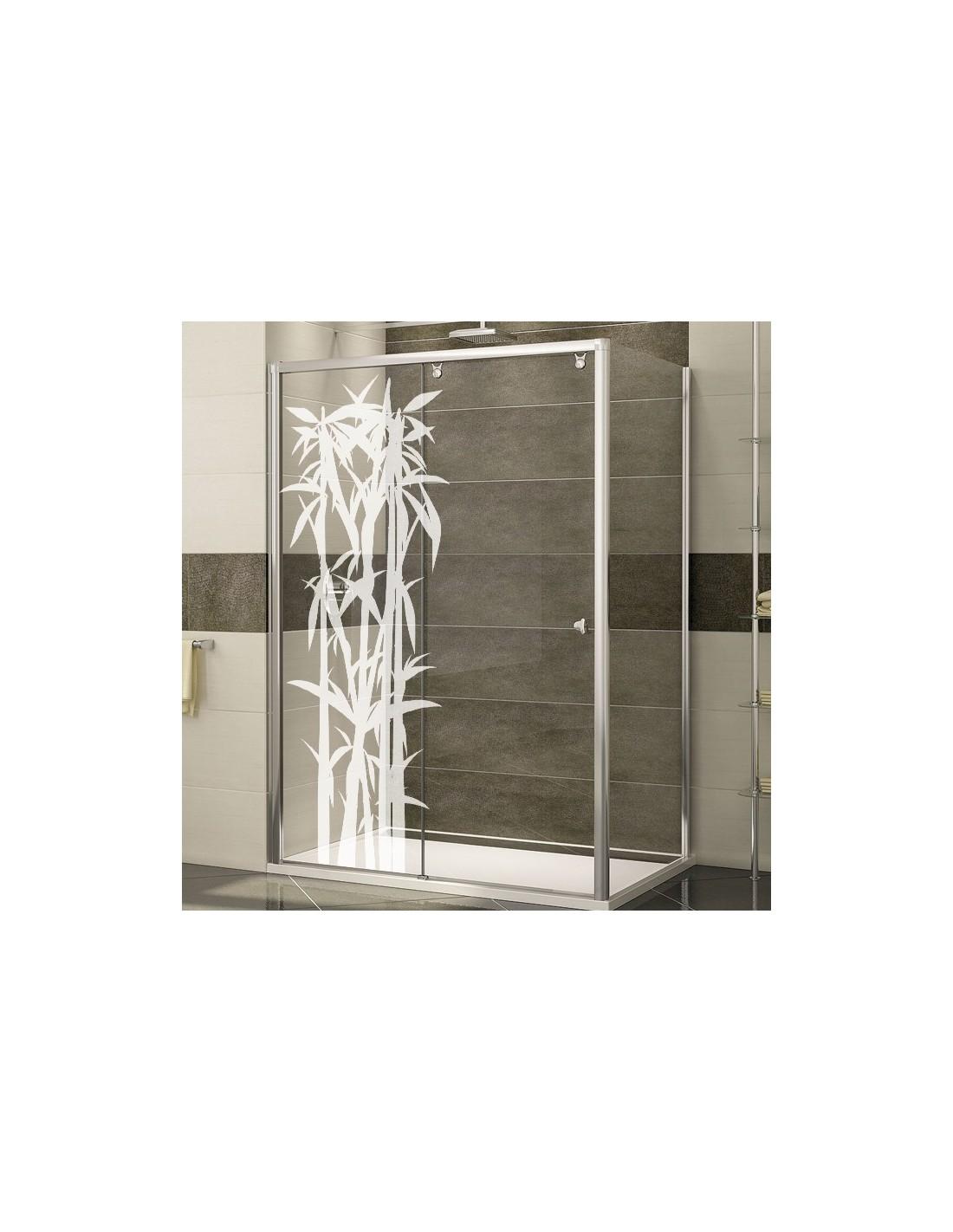 Stickers bambou pour la décoration de paroi de douche