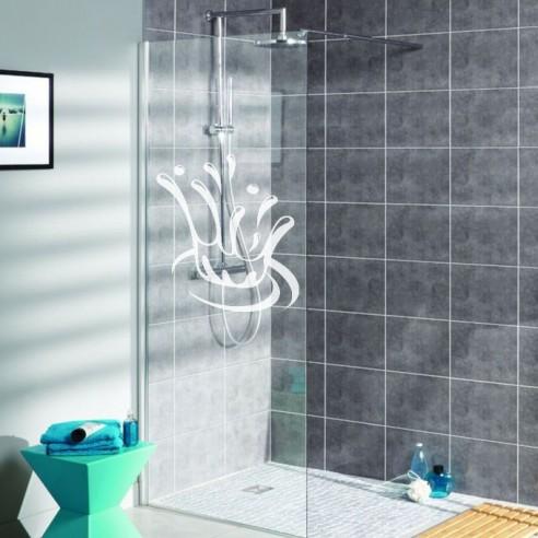 sticker déco paroi de douche