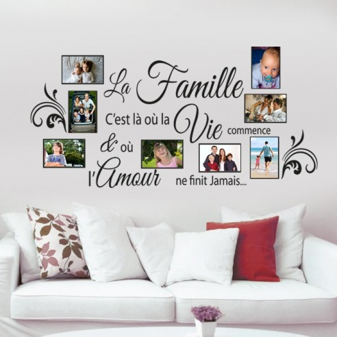 stickers muraux cadre photos la faille c 39 est cadre photos famille. Black Bedroom Furniture Sets. Home Design Ideas