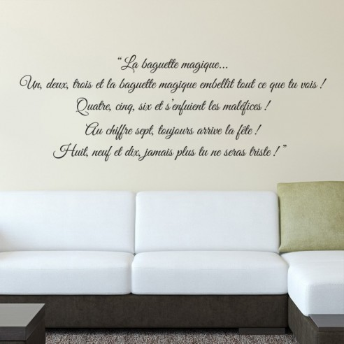 stickers mural citation pas cher stickers citation longue et po me. Black Bedroom Furniture Sets. Home Design Ideas