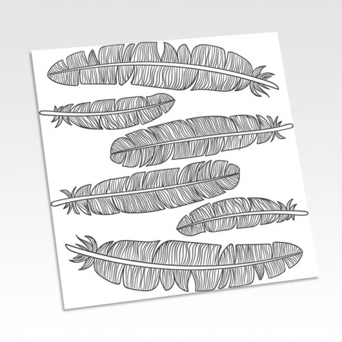 Planche stickers plumes