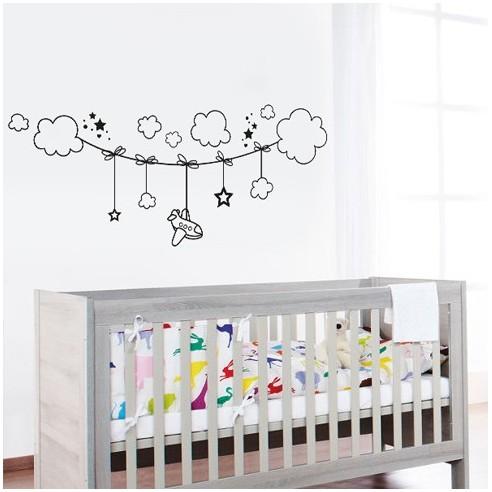 stickers corde à nuages