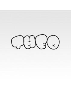 Stickers prénom graffiti personnalisé