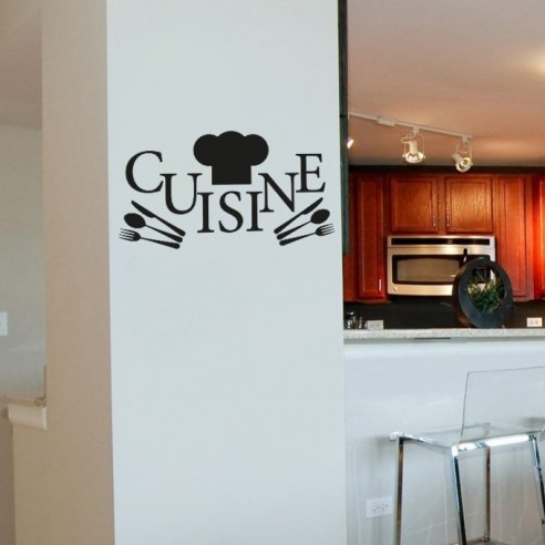 Stickers de d coration murale pour la cuisine pas cher stickers d co - Stickers cuisine originaux ...