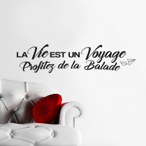 stickers texte et citation courte citation bonheur motivation. Black Bedroom Furniture Sets. Home Design Ideas