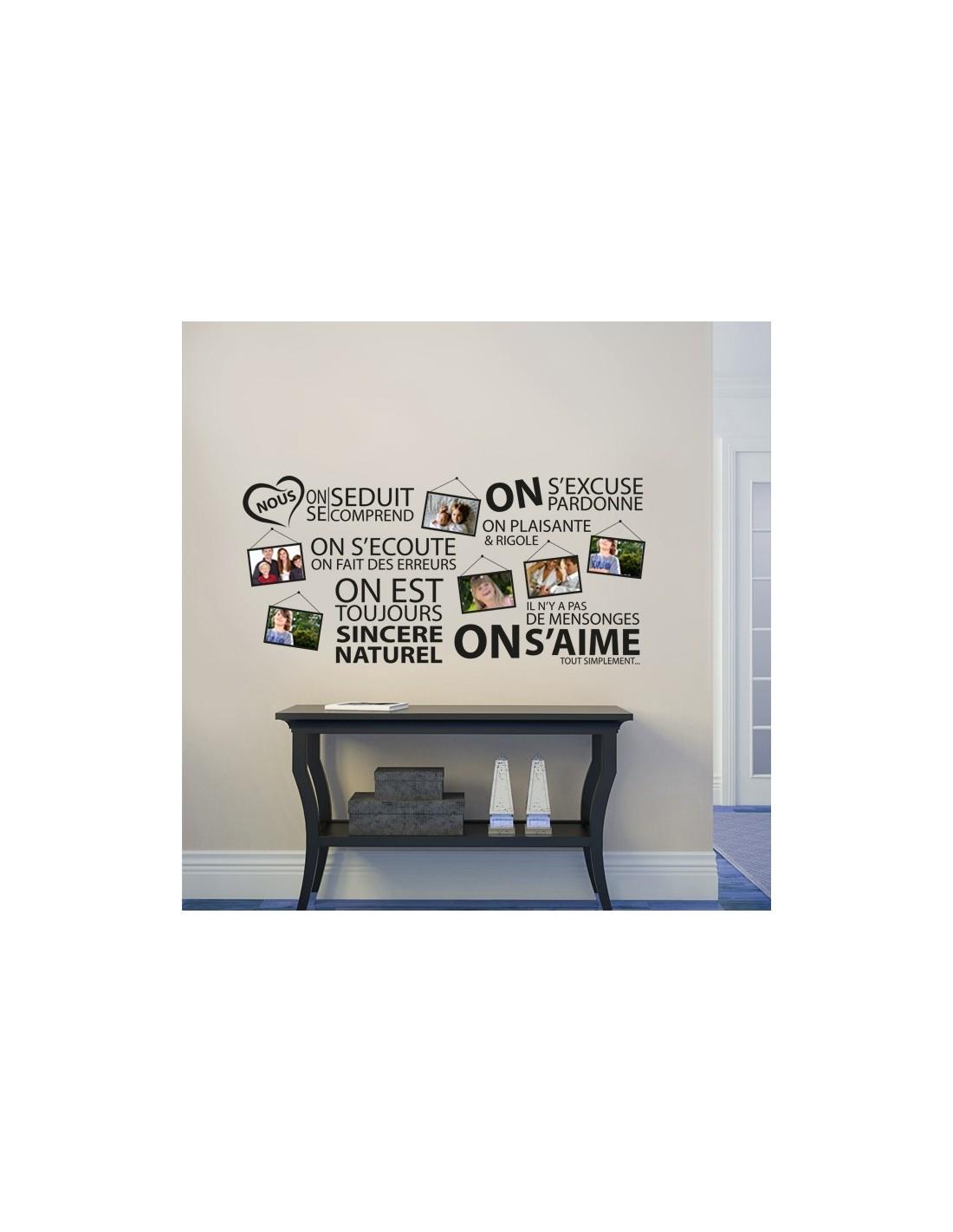 stickers d co mural cadre photos cadre photos citation. Black Bedroom Furniture Sets. Home Design Ideas