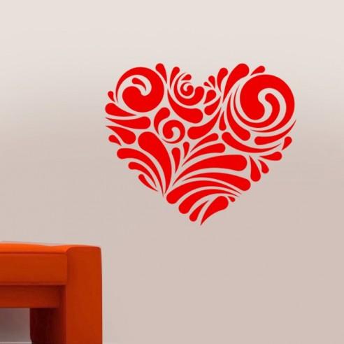 sticker déco coeur design