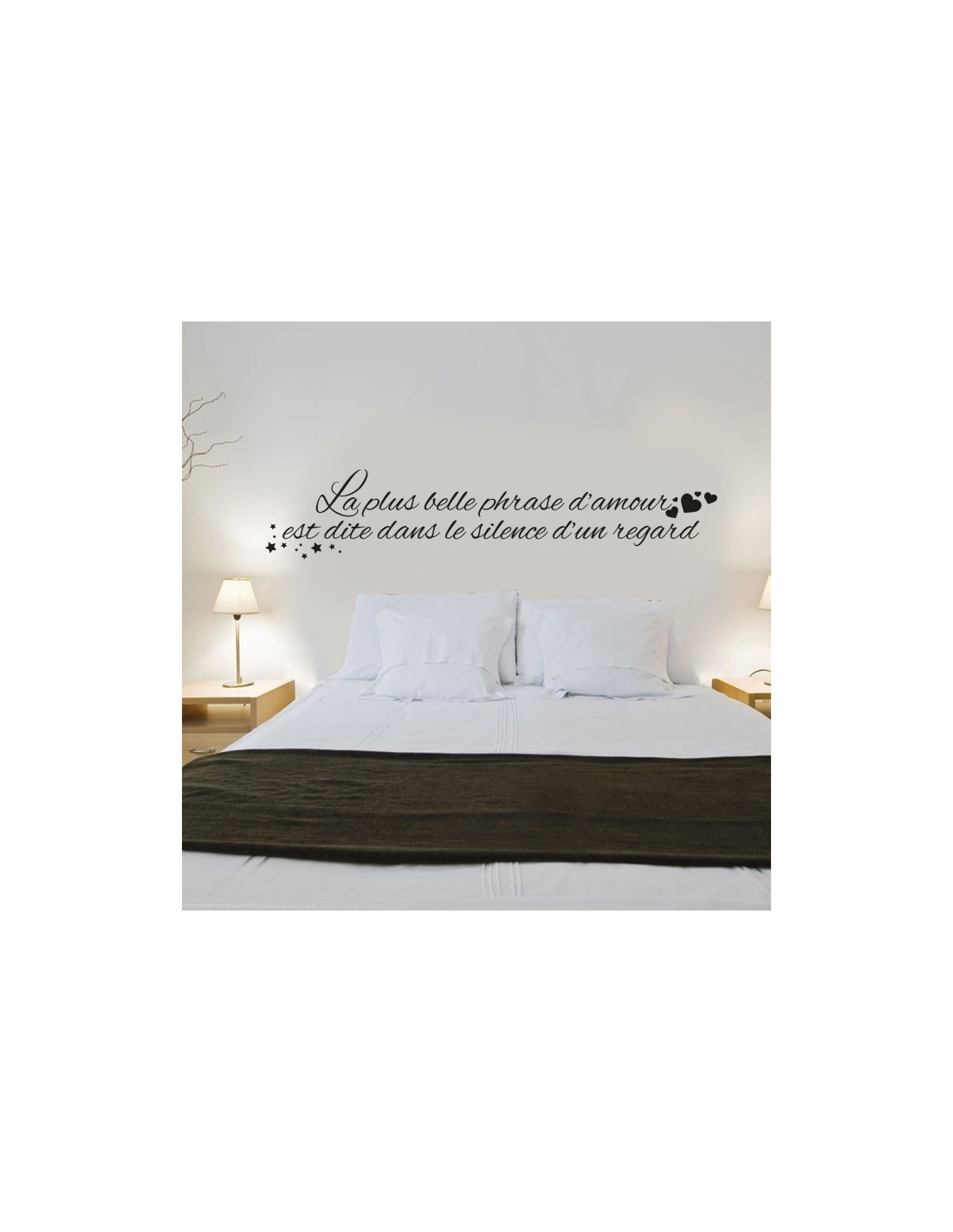 stickers muraux citation la plus belle phrase. Black Bedroom Furniture Sets. Home Design Ideas