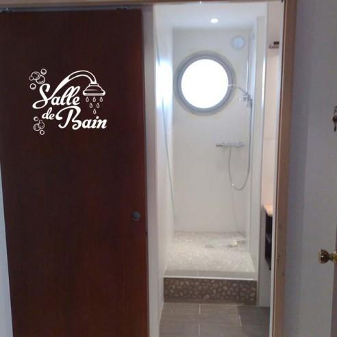 Stickers d coration salle de bain stickers porte de salle de bain - Stickers porte salle de bain ...