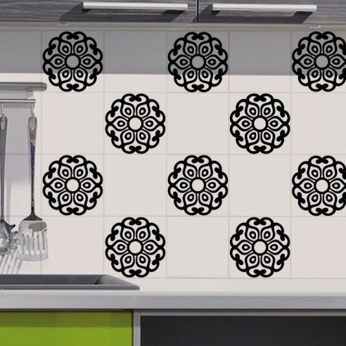 Stickers carrelage mandala