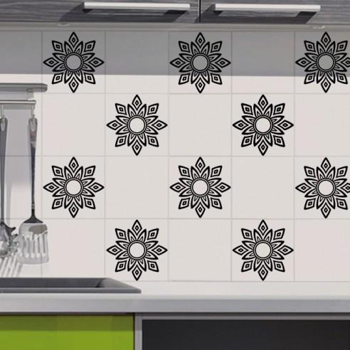 stickers d coration design pour carrelage cuisine salle de bain. Black Bedroom Furniture Sets. Home Design Ideas