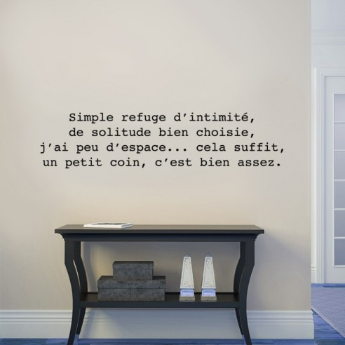 Sticker citation : Simple refuge...