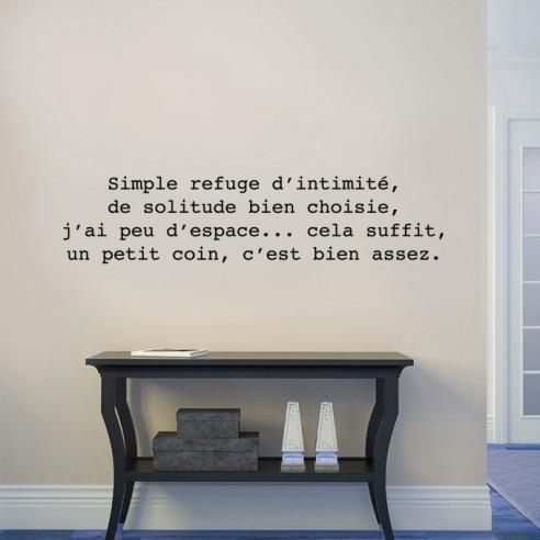 Sticker citation : Simple refuge...