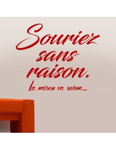 Sticker souriez sans raison