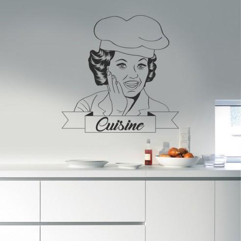 stickers muraux cuisine sticker de d coration pour. Black Bedroom Furniture Sets. Home Design Ideas