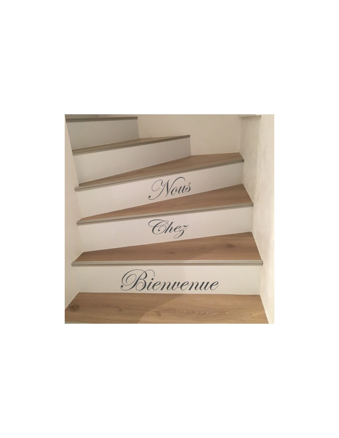 kit 5 stickers personnalis s pour contremarche d 39 escalier. Black Bedroom Furniture Sets. Home Design Ideas