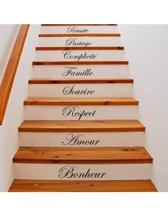 Stickers x15 contremarche escalier