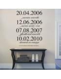 Sticker personnalisé dates et textes