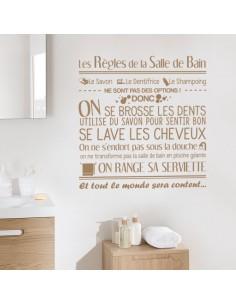 Sticker les règles de la salle de bain