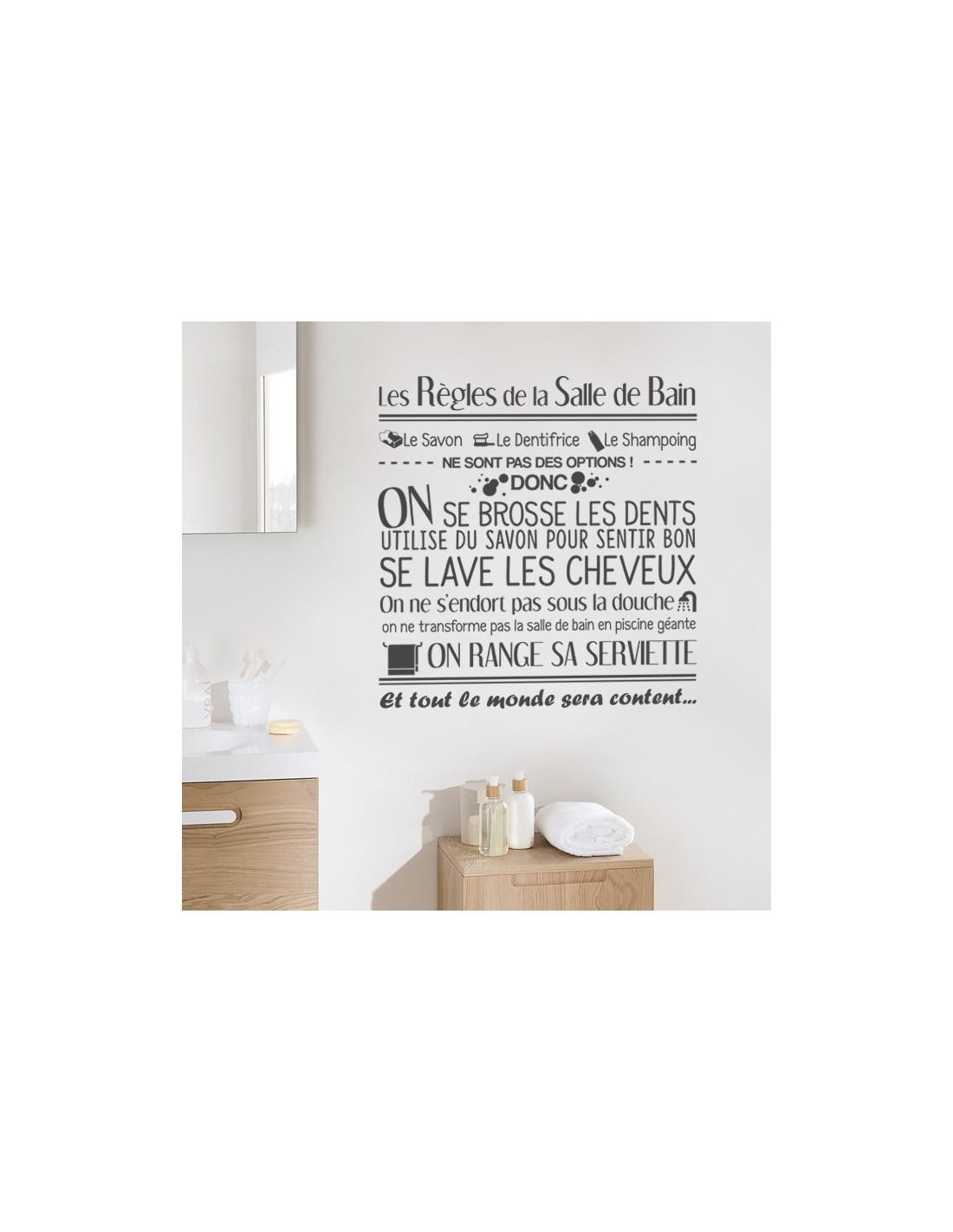 Sticker D Coration Les R Gles De La Salle De Bain