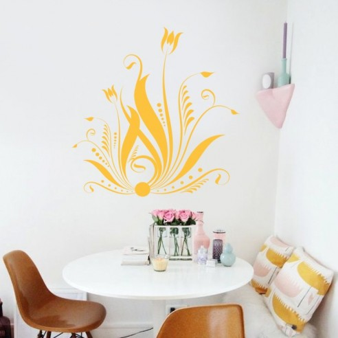 Sticker déco floral design