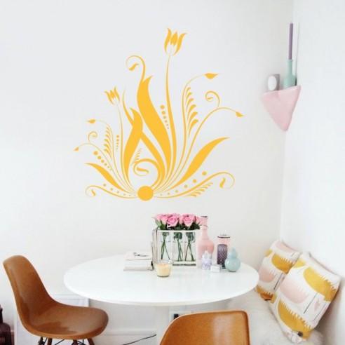 sticker dco floral design - Stickers Muraux Design Decoration