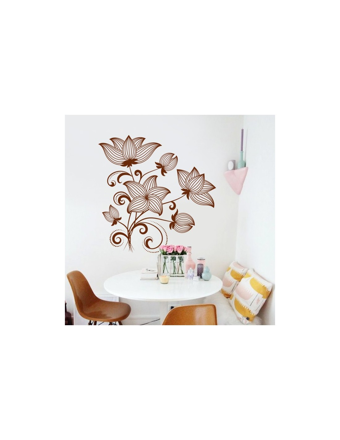 stickers nature fleurs arbre stickers muraux nature pas cher. Black Bedroom Furniture Sets. Home Design Ideas