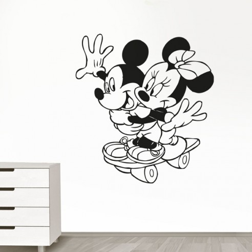 Sticker Mickey et Minnie