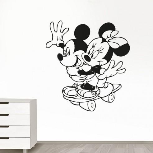 Sticker Mickey et Minnie