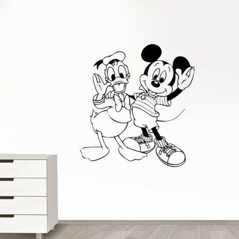 Sticker Mickey et Donald