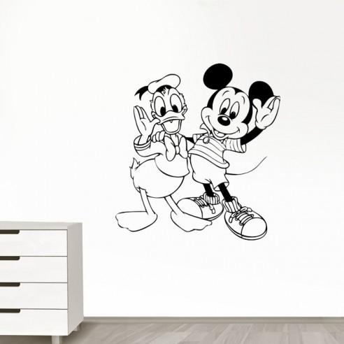 Sticker Mickey et Donald