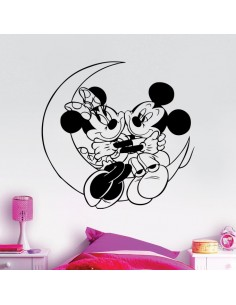 Sticker lune Mickey et Minnie