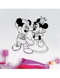 Sticker Mickey et Minnie princesse