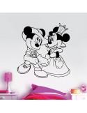 Sticker Mickey et Minnie princesse