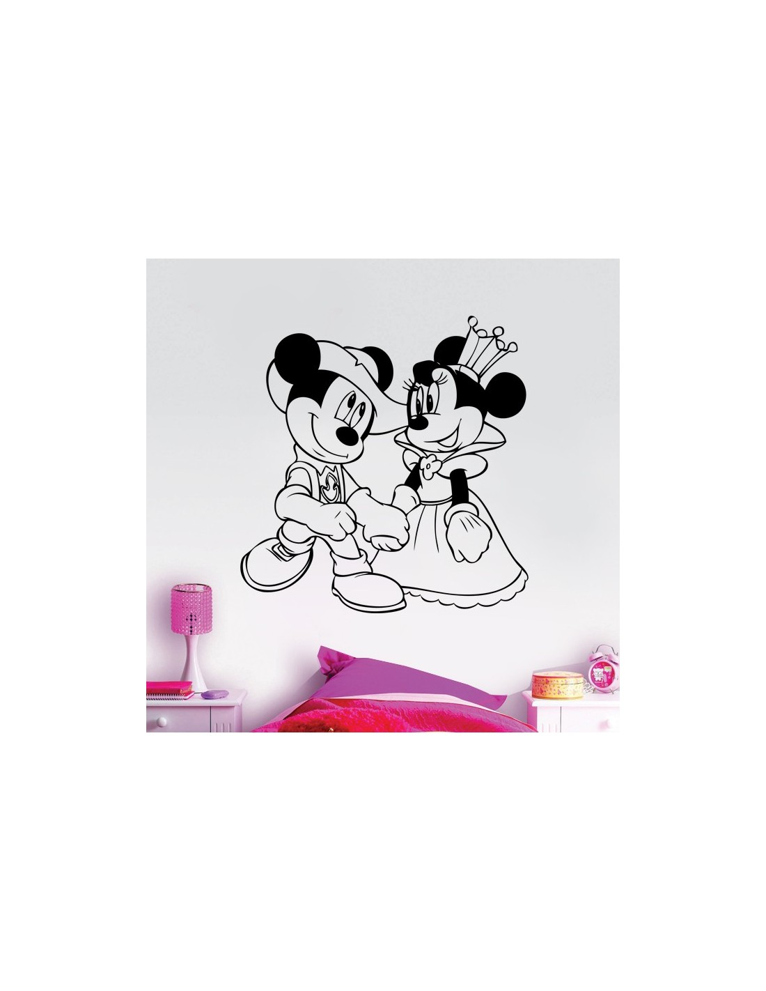 Stickers enfant stickers mickey minnie donald pas cher for Stickers mickey chambre